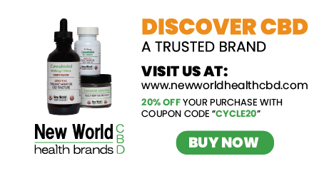 New World Health Brands CBD - 20% off Cyclechex Pomotion cycle20 code